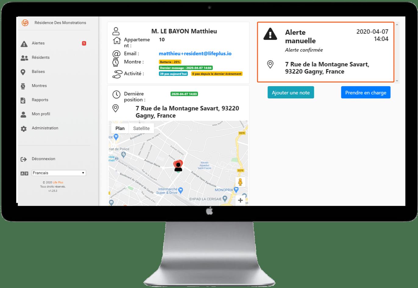 Géolocalisation GPS et détection de fugue solution d'assistance Dona Care